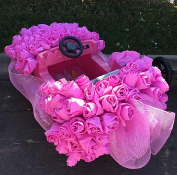 Pink wagon