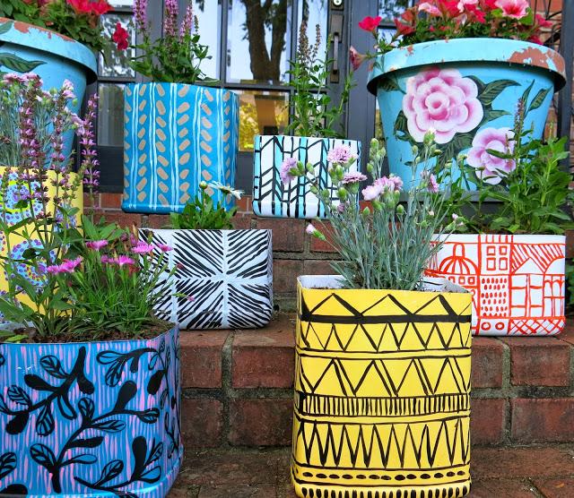 Cassie Stephens' DIY Planters